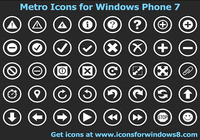 Metro Icons for Windows Phone 7