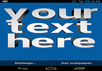 Texte 3D Live Wallpaper