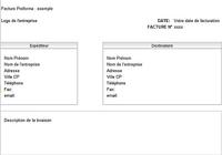 Modèle facture pro forma