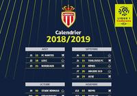 Calendrier AS Monaco Ligue 1 2018 - 2019