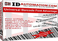 MAC Universal Barcode Font