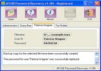 MYOB Password Recovery