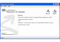 Recovery for Sybase