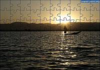 Puzzle Coucher de Soleil Pêcheur