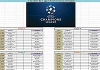 Calendrier Ligue des Champions 2017-2018