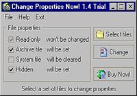 Change Properties Now!