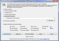 Find Password Protected Documents