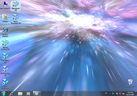 Animated Wallpaper - Hyperspace 3D
