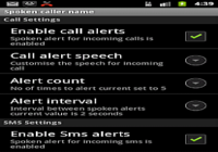 Talking SMS and Caller ID full