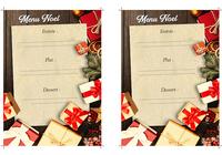 Modèle de menu de Noël Word