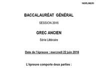 Bac 2016 Grec Série L