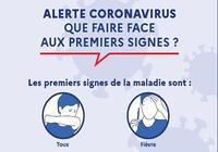 Affiche prévention Coronavirus - Premiers signes