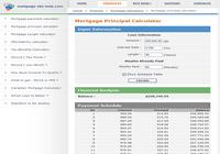 Mortgage calculators collection