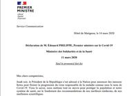 Coronavirus - Annonces Edouard Philippe 14 mars