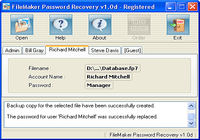 FileMaker Password Recovery