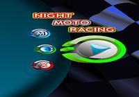 Course de Moto Nocturne Pilote