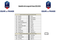 Calendrier Coupe de france de Football 2014