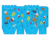 Pochette pour carte cadeau bleue à imprimer