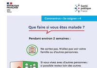 Affiche prévention Coronavirus - Que faire si on est malade ?
