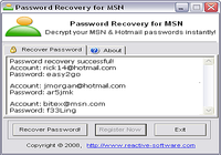 Password Recovery for MSN