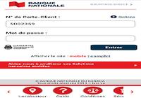 Application Banque Nationale
