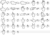Standard Hand Icons