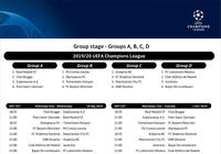 Ligue des Champions Calendrier 2019 (Phase de groupes)