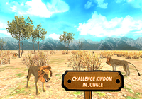 Lion chasse 3d