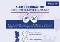 Affiche prévention Coronavirus - Comment se laver les mains ?