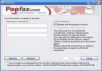 Popfax-Printer Internet fax