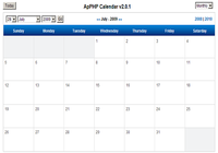 ApPHP Calendar - PHP Calendar Script