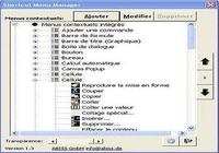 Excel Shortcut Menu Manager