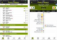 Foot en direct iOS