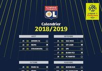 Calendrier OL Ligue 1 2018-2019