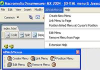 AllWebMenus Javascript Menu Dreamweaver Extension