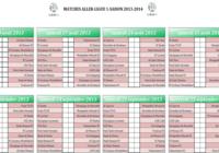 Calendrier ligue 1 2013-2014