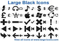 Large Black Icons