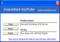 Exchange Keyfinder