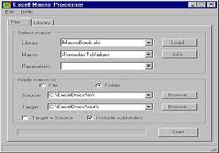 Excel Macro Processor