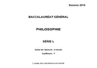 Bac Philosophie 2016 Série L Pondichéry