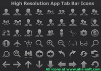 High Resolution App Tab Bar Icons