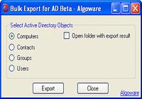 Algoware Active Directory Export Tool