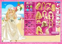 Beautiful bride dressup
