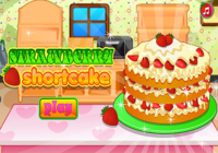 Petit gâteau aux fraises