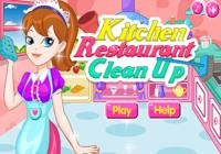 Nettoie Cuisine de Restaurant
