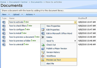 Document Library Preview for SharePoint
