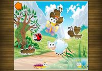 Amusant puzzle pour enfants de