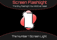Lampe de poche à l'écran