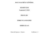 Bac 2016 Français Série ES et S
