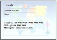 Carte visite Mondialisation